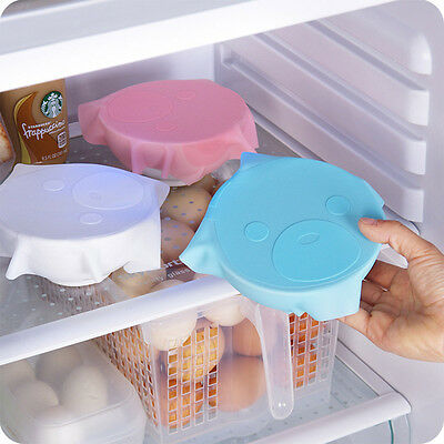 Durable Bowl Seal Cover Cling Film Food Fresh Keeping Lids Silicone Saran Wrap
