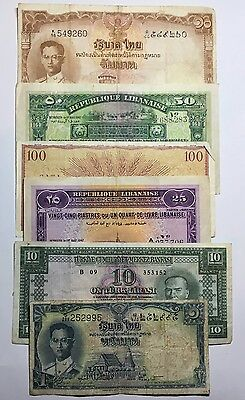 A Selection of Six World Banknotes