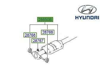 Genuine Hyundai Accent Exhaust - 2865025010