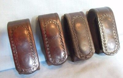 "Belt Keepers for Police Duty Belt.  Set of 4,  2 1/4"".   Leather"