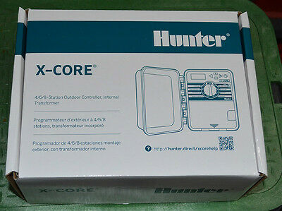 Hunter XC-400 X-core timer 4 Stations/Zones outdoor timer New unused