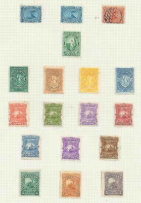El Salvador, a small collection of stamps, MH/FU, 1867 - 1970