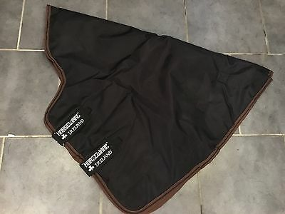 Horseware Rambo Excel XL Turnout Rug Neck Cover Hood Black/Choc - RRP£49.99 SALE