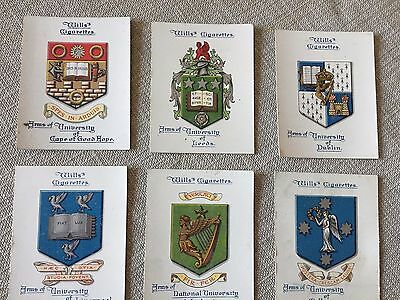 Wills Arms Of Universities 6 Large Cards  Lot A