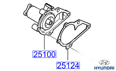 Genuine Hyundai Accent Water Pump and Gasket - Kit