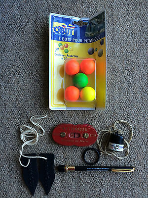 Boules / Petanque accessories - measurers, jacks and leather counter