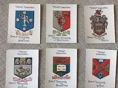 Wills Arms Of Universities 6 Large Cards  Lot B