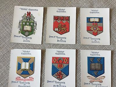 Wills Arms Of Universities 6 Large Cards  Lot C