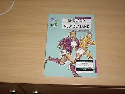 Rugby World Cup 1991 England v New Zealand Programme