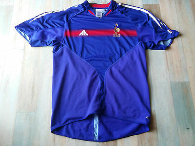 Maillot FOOT ADIDAS EQUIPE FRANCE FFF COQ ETOILE TAILLE/L/D6 TBE