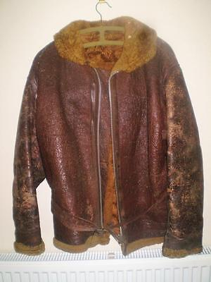 Old Sheepskin Flying Jacket 1940s Irvin WW2?