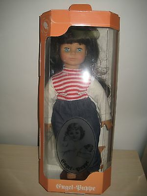 """Engel Puppe MIB Vinyl Cloth STUNNING  Doll 18"""" made in Germany LONG LASHES"""