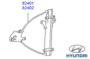 Genuine Hyundai Accent Window Regulator (Manual) LH - 8240125200