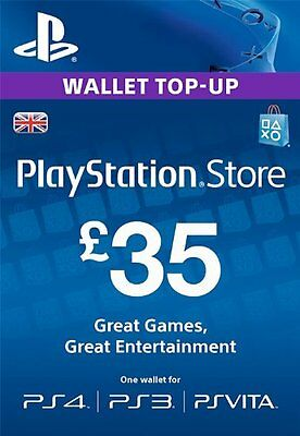 Sony PlayStation Network Card - 35 GBP (PlayStation Vita/PS3/PS4) UK only!
