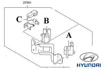 Genuine Hyundai Accent Ignition Coils - 2730122600