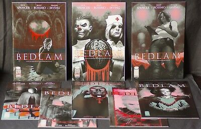 Bedlam 1 2 3 4 5 6 7 8 NM Image Comics 2012 1s Print 8 book set CGC them!!!