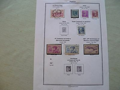 France - Stamps from 1933/34