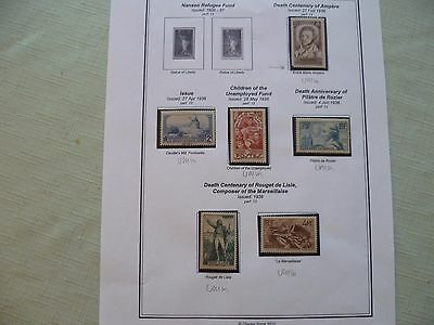 France - Page of stamps from 1936