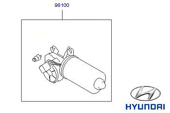 Genuine Hyundai Accent Windscreen Wiper Motor - 9810029900