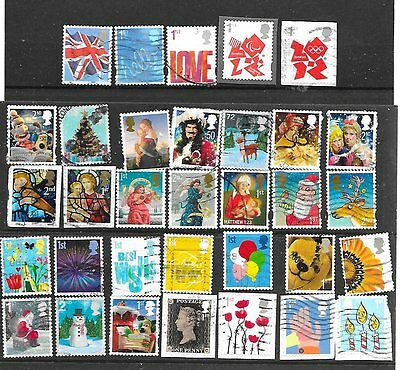 A selection of used Self adhesive stamps on & off paper start 99p see scan