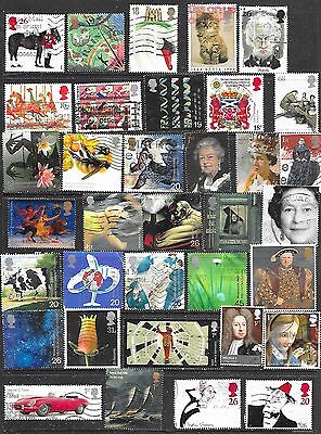 A selection of used GB commemorative stamps start 60p see scan & note