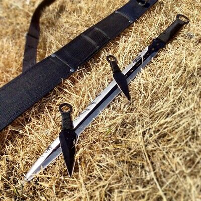 "28"" Defender Xtreme Ninja Sword with Knife Set with Sheath"