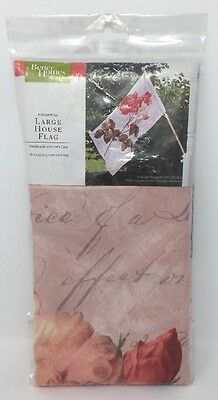 """Better Homes and Gardens Antique Rose Large House Flag 28'' X 40"""""""