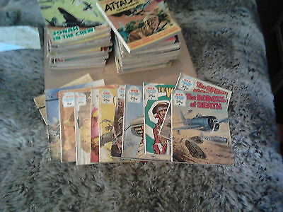 Large Assorted Early Picture Library Books - Commando Western Etc