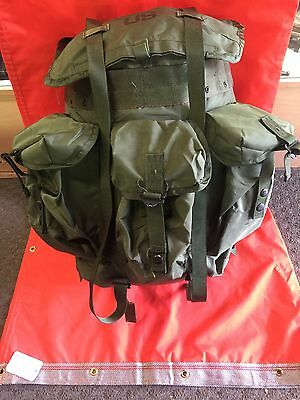 US military surplus Medium OD green Alice combat pack Backpack Complete  frame
