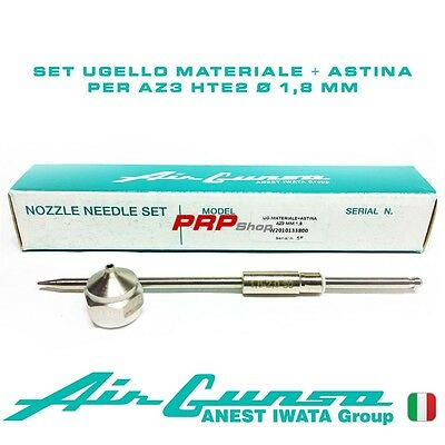 Set Ugello Materiale + Astina per Air Gunsa AZ3 HTE2 - Nozzle Needle Set 1.8 mm