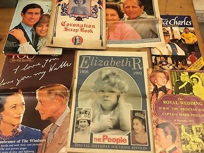 Joblot Of Royal Papers Books Collectible Ephemera