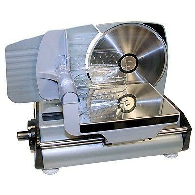 Meat Slicer Machine Steel Electric Knife Rotary Blade Circular Carving Food Deli