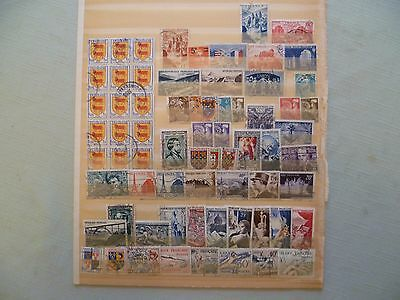 France - Collection of Used stamps 1947 - 1963