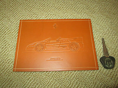 Rare Ferrari Factory Schedoni F50 supercar small limited leather print artwork