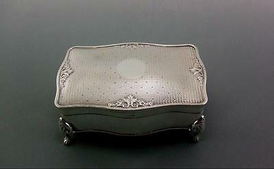 Excellent Beautiful Antique Solid Sterling Silver Jewellery Box