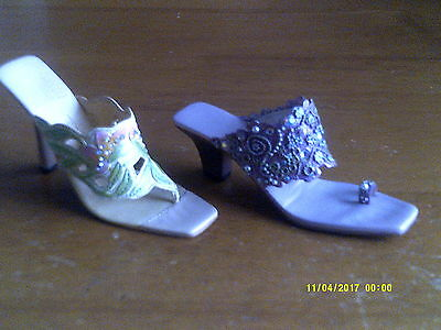 2 JUST THE RIGHT SHOE- COLLECTIBLE SHOES BY RAINE Springtime Romance/sunday best