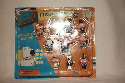 Family Guy Figurines Pack of 10 Figures FAM5DB Sealed Vending Machine Toys