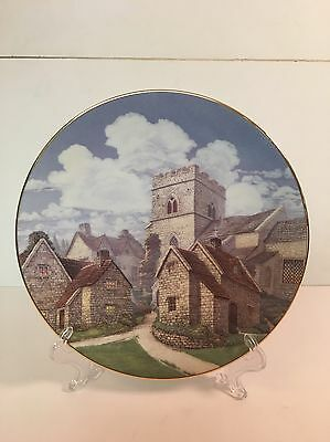 David Winter Cottages Plate Cotswold Village Limited Edition
