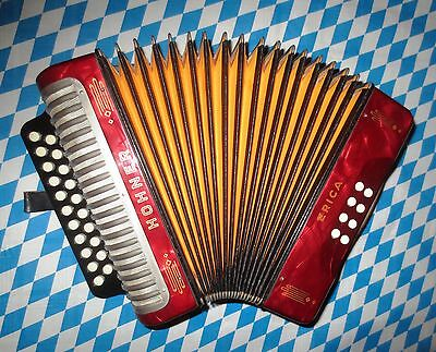 Vintage Accordion Hohner Erica in C/F - great condition - MADE IN GERMANY!!!
