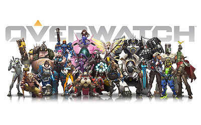Overwatch 24X36 Poster Shooter Video Game Gaming Playstation 4 Xbox One Blizzard