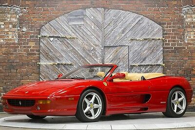 1997 Ferrari 355 Spider Rosso Corsa Red Tan 6-Speed Manual 97 F355 Convertible 360 Wheels Fabspeed Exhaust Brand New 30K Major Service