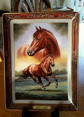 Franklin Mint Thoroughbred Horse Portrait By M. D. Finnell - Excellent