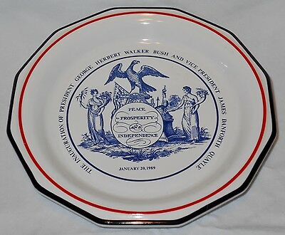 1989 Inauguration of President George Bush & Vice President James Quayle Plate