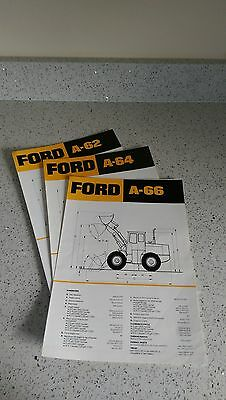 Ford A62 A64 A66 wheeled loader brochures x 3