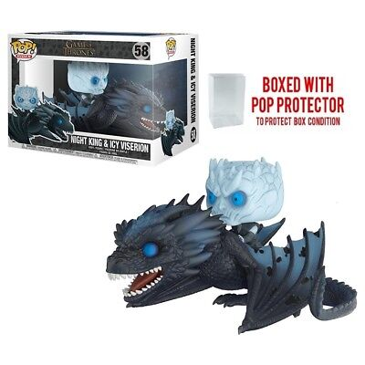 Funko Pop! Rides: Game of Thrones - Night King On Dragon Vinyl Figure w/ case