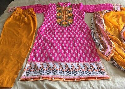 Pakistani Embrioded LAWN Suit COLLECTION STITCHED SHALWAR KAMEEZ SUIT Small