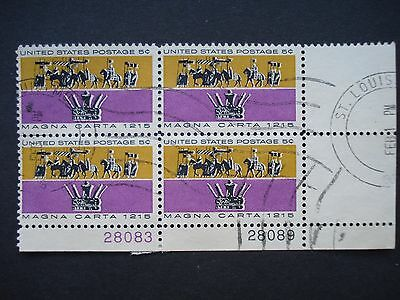 Block of 4 Used Stamps USA