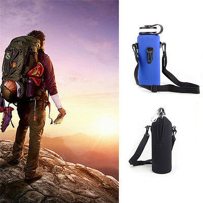 Hot New Water Bottle Carrier Insulated Cover Pouch Bag Holder Shoulder Strap
