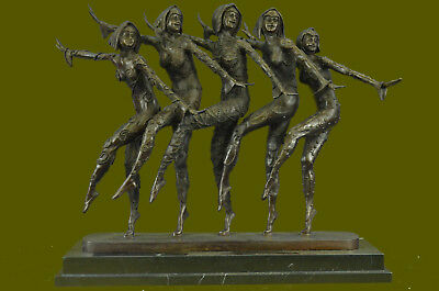 "COLLECTIBLE Russian Dancers' Fabolous Five "" Hand Made Bronze Sculpture Figurine"