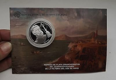 Peru Coin Silver Proof Un 1 Sol 2016 Sesquicentennial Victoria May 2 Mayo